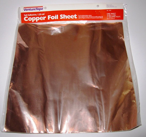 Copper Foil Sheet 12 Quot X12 Quot Adhesive Backed Venture