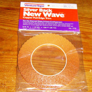 WAVY / SCALLOPED Edge Copper Foil Tape SILVER BACK - 36 yards - Venture Tape