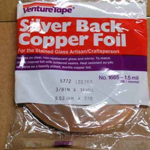 "3/8"" Copper Foil Tape SILVER BACK - 36 yards - Venture Tape"