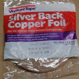 "5/16"" Copper Foil Tape SILVER BACK - 36 yards - Venture Tape"
