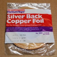 "7/32"" Copper Foil Tape SILVER BACK - 36 yards - Venture Tape"