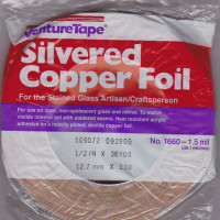 "1/2"" Copper Foil Tape SILVERED (silver both sides) - 36 yards - Venture Tape"