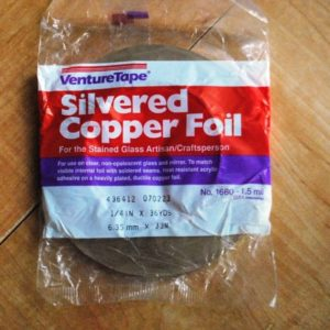 """1/4"""" Copper Foil Tape SILVERED (silver both sides) - 36 yards - Venture Tape"""