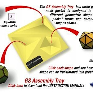 3-D Bevel Triangle Ball Kit: includes Bevels and Assembly Tray - Tray also has set up for RIGHT ANGLE boxes and Triangle Cubes