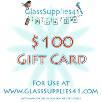 $100 Gift Card for use at GlassSupplies41.com