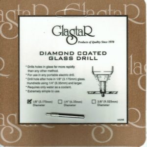 "1/8"" ( 3mm) - Glastar - Glass Diamond Drill Bit - For Hand Drill"