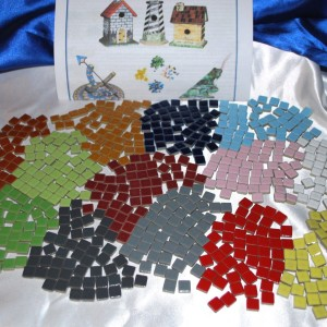 """Mosaic Tiles 3/8"""" glossy one sided tiles"""
