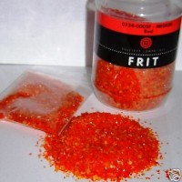 2 oz - Bullseye COE 90 Glass Fusing Frit {{ RED OPAL}} Grit Size: Medium