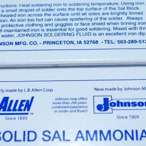 Large Block (8 oz) of Sal Ammoniac