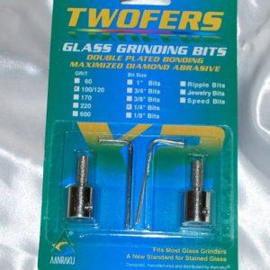 """Aanraku Twofers - 1/4"""" Grinder Bits - Standard Grit // INCLUDES 2 BITS // fits most grinders"""