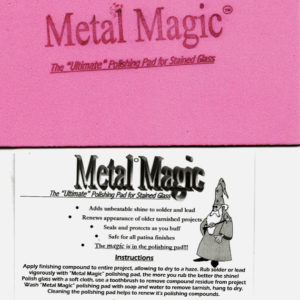 "Metal Magic - Ultimate POLISHING PAD - 4.5 x 6"" Polish Pad is Reusable - Polymer Particles that Bind"