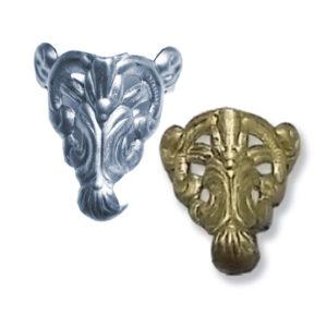 Silver Steel Box Feet - Decorative Filigree