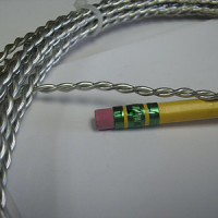 THICK TWISTED WIRE - Tinned Copper (silver color) 14 gauge - 5 foot Roll