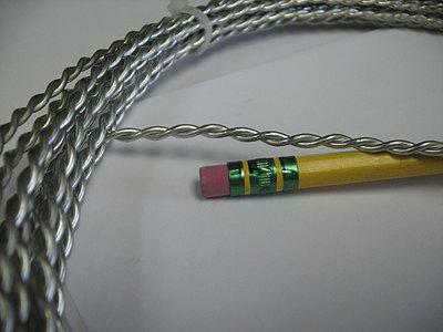THICK TWISTED WIRE - Tinned Copper (silver color) 14 gauge - 25 foot ...