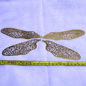 Dragonfly Wing Brass Filigree - 1 Set (4 wings) or 6 Sets (24 wings) - Stained glass/ Lamp working/ Tiffany - GlassSupplies41.com