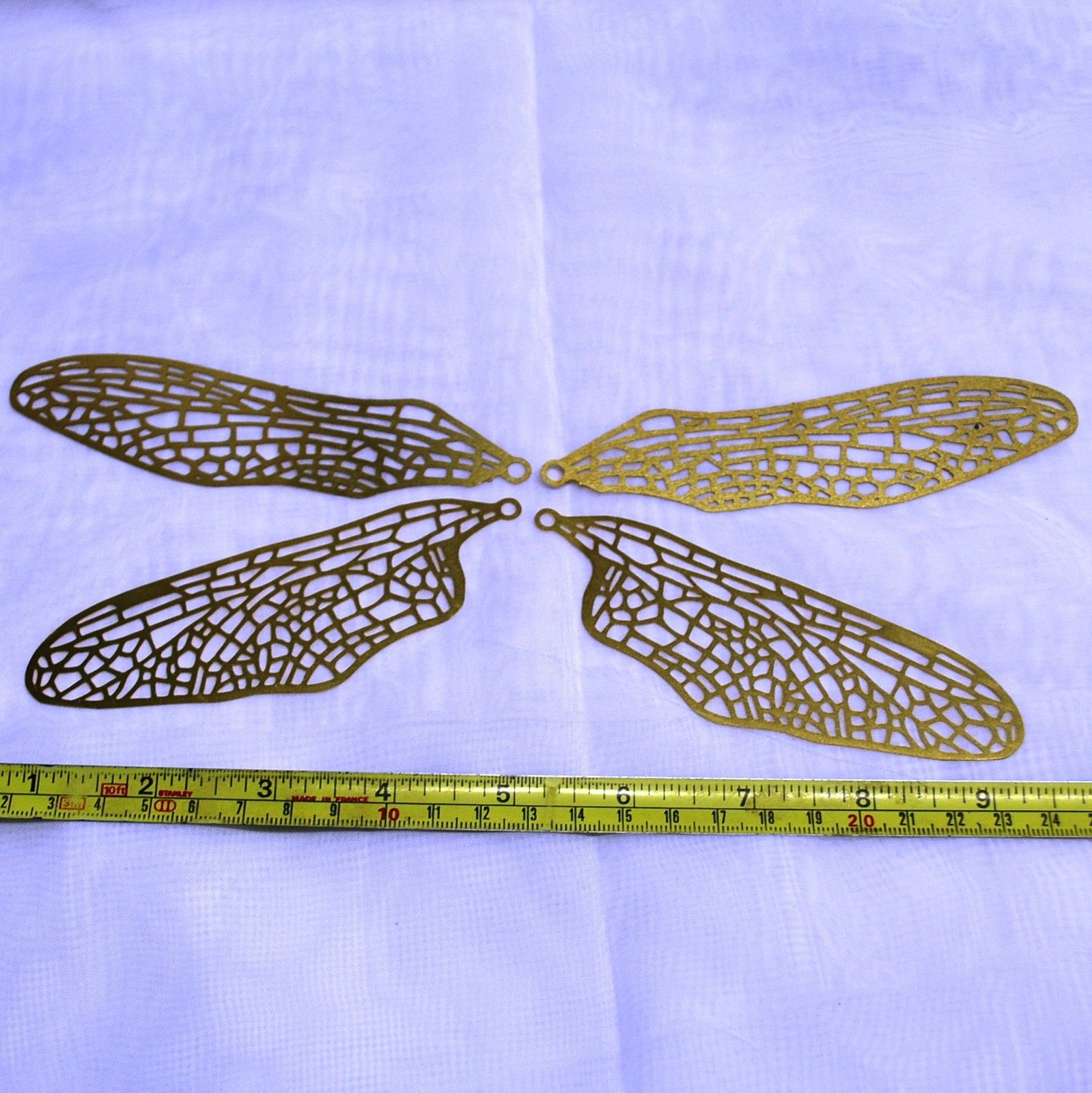 Dragonfly Wing Brass Filigree 1 Set 4 Wings Or 6 Sets 24