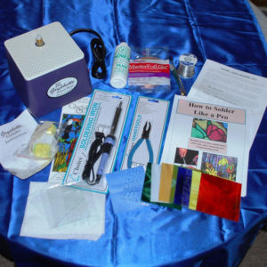 Stained Glass BEGINNER Kit: GRYPHON Grinder, all Tools PLUS Stained Glass to make suncatchers!
