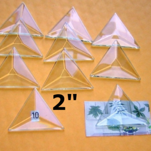 """2"""" Clear Bevel Triangle (2 inch)"""
