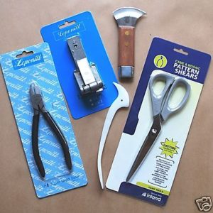 Leading Tool Kit - 5 Piece - Lead Knife, Dykes, Fid, Lead Stretcher, Lead Pattern Shears - GlassSupplies41.com