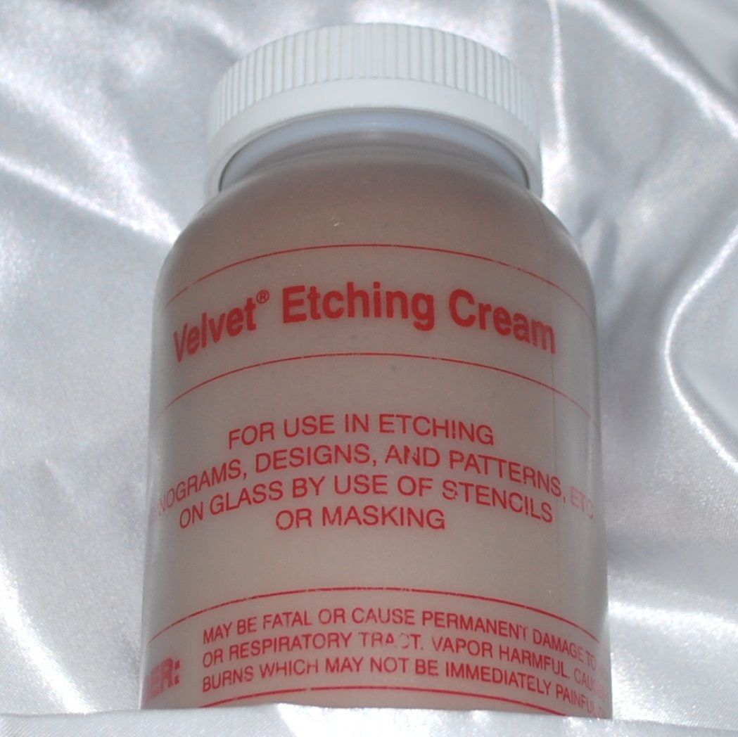 mckay velvet etch professional etching cream for glass or mirror - 4  118 ml