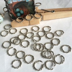 """Twisted Accent Rings - 20 Pack - 3/8"""" (0.375 inch) - GlassSupplies41.com"""