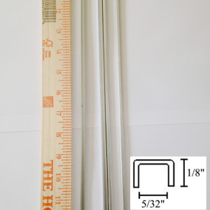 "1/8 U Zinc Came Channel - 12 Inch Pieces - 5/32"" channel - 1/8"" depth - Add strength and a smooth sleek finish to your stained glass panel borders - GlassSupplies41"