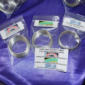 2 oz Lead-free Solder Sample - Choose from Silvergleem, DGS, or Amerway