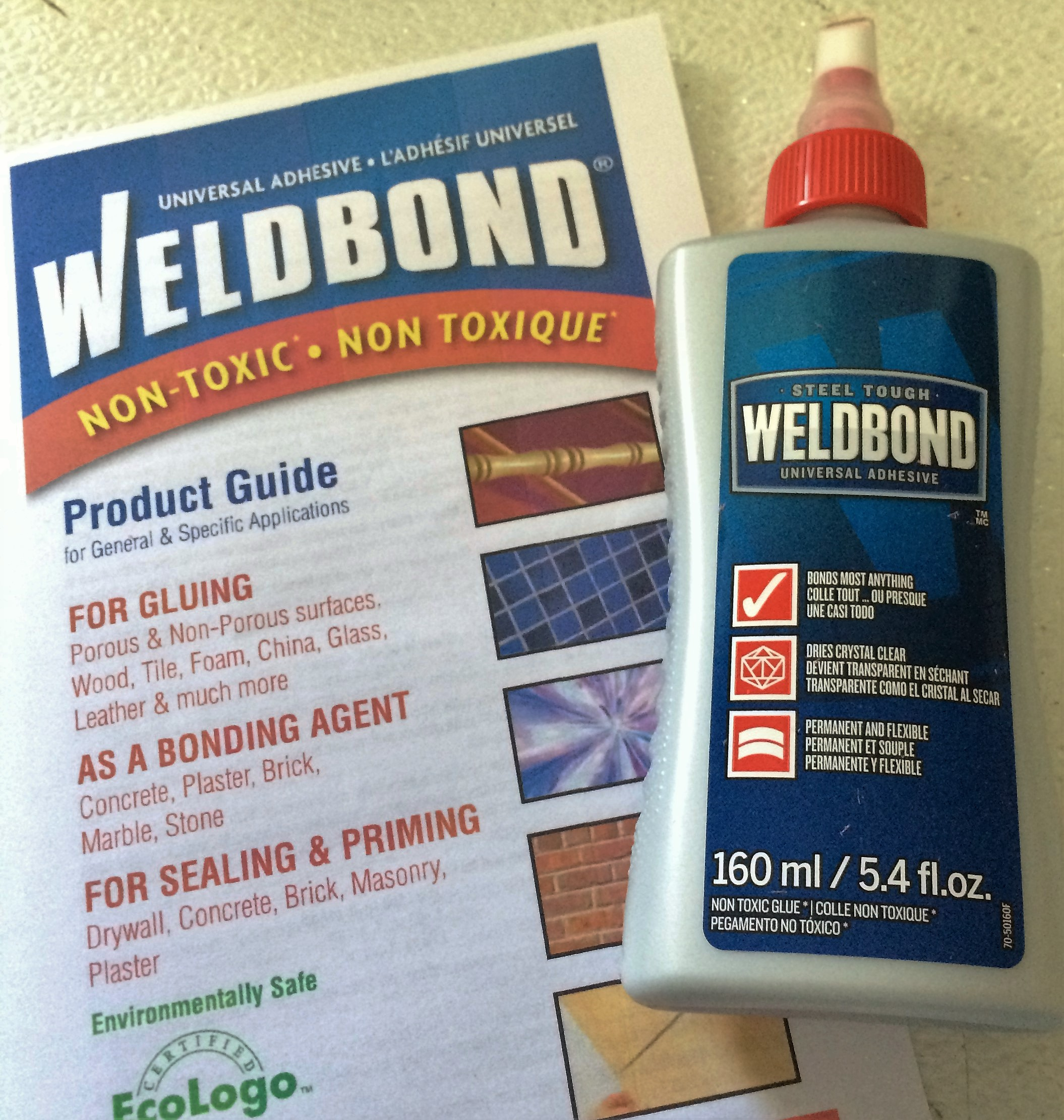 5 4 Oz 160ml Bottle Weldbond Gl Mosaic Tile Glue Adhesive