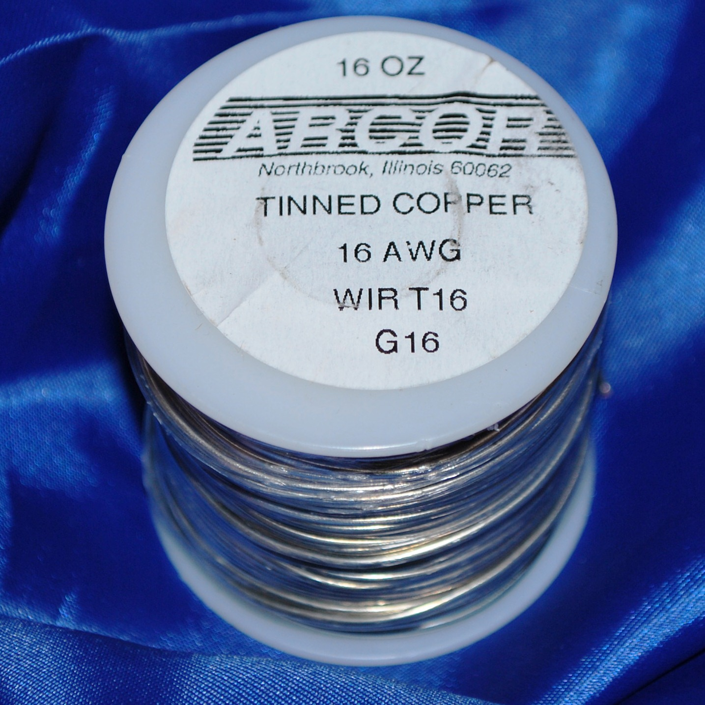 1 Pound 16 Oz Tinned Copper Wire Silver Color 16 Gauge